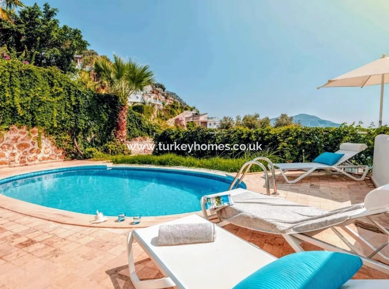 A Very Special Opportunity, Luxury Villa With Beautiful Views Of Kalkan With Communal Swimming Pool